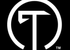 T Icon - Black Background